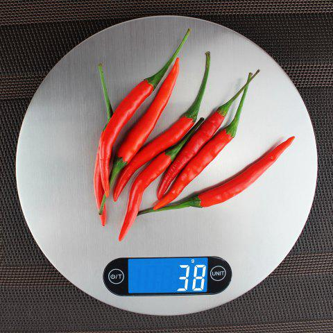 Fashion 5KG/1g Kitchen Digital Measure Tool Electronic Scale - 20*20*1.6CM(5KG/1G) SILVER Mobile