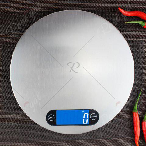 Latest 5KG/1g Kitchen Digital Measure Tool Electronic Scale - 20*20*1.6CM(5KG/1G) SILVER Mobile