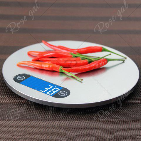 Affordable 5KG/1g Kitchen Digital Measure Tool Electronic Scale - 20*20*1.6CM(5KG/1G) SILVER Mobile