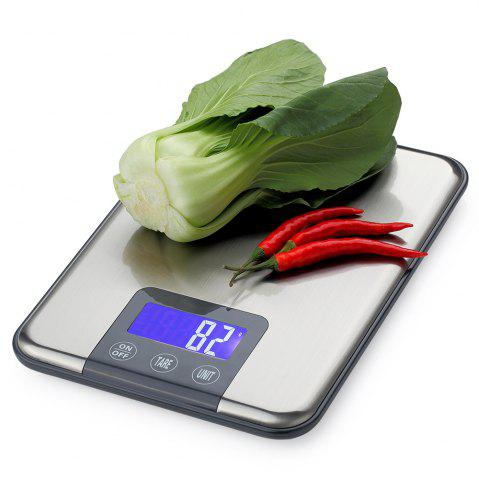 Affordable Kitchen High Precision Digital Mini Electronic Scale - 22.5*16.5*1.7CM(5KG/1G) SILVER Mobile