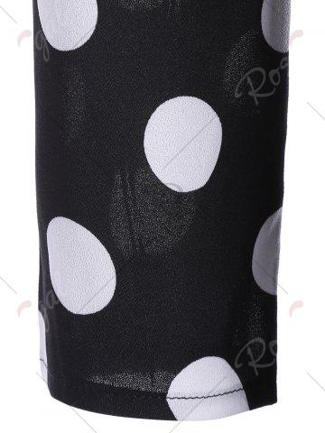 New Midi Vintage Polka Dot A Line Dress - M BLACK Mobile