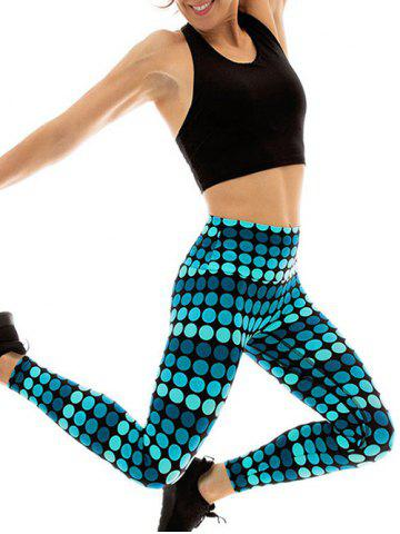Unique Polka Dot Fitted Yoga Pants - L COLORMIX Mobile