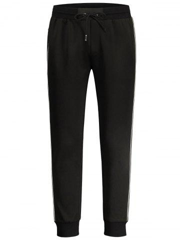 Contrast Side Stripe Jogger Pants - Black - 2xl