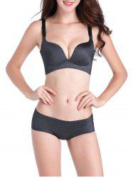 Seamless Push Up Adjustable Straps Bra - DEEP GRAY