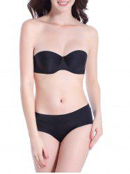 Double Closure Strapless Underwire Bra