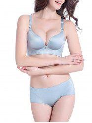 Back Closure Seamless Push Up Bra