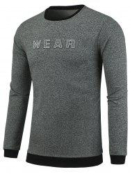 Wear Pattern Crew Neck Heathered Sweatshirt