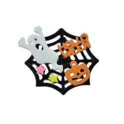 Halloween Devil Pumpkin Cobweb Ghost Brooch - COLORMIX