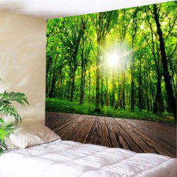 Forest Wood Flooring Print Tapestry Wall Hanging Art Decoration -