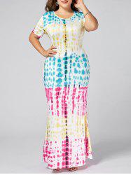 Plus Size Colorful Ombre Long Bodycon Dress