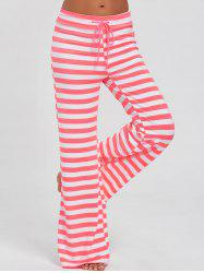 Stripe Wide Leg Pants - PINK