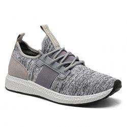 Breathable Elastic Band Tie Up Casual Shoes