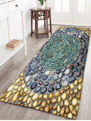 Pebbles Printed Water Absorption Flannel Rug - COLORMIX W24 INCH * L71 INCH
