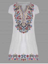 V Neck Sequin Embroidered Plus Size Tunic Top