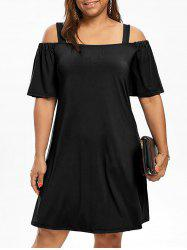 Robe Grande Taille Manches 1/2 Épaules Nues -