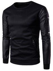 Faux Leather Zip -