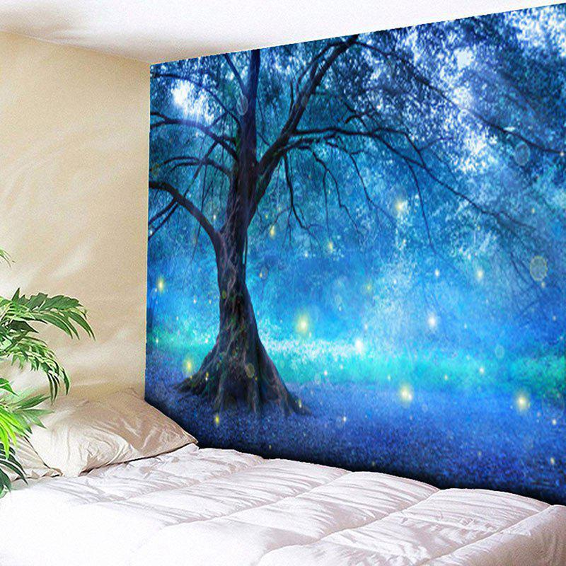Life Tree Forest Pattern Wall Hanging TapestryHOME<br><br>Size: W59 INCH * L51 INCH; Color: BLUE; Style: Natural; Theme: Landscape; Material: Cotton,Polyester; Feature: Removable,Washable; Shape/Pattern: Forest,Plant,Print; Weight: 0.1800kg; Package Contents: 1 x Tapestry;