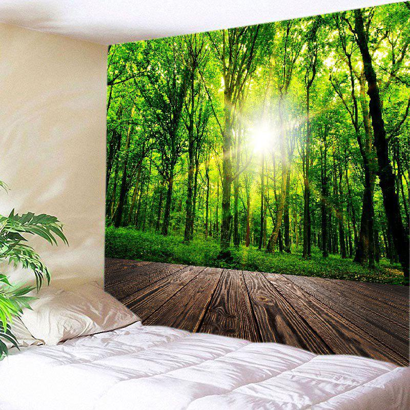 Discount Forest Wood Flooring Print Tapestry Wall Hanging Art Decoration