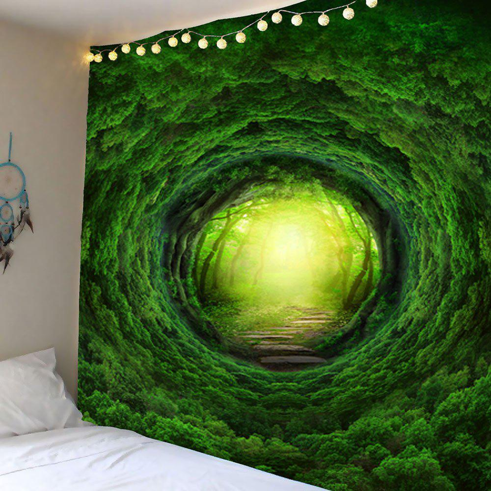 Home Decor Nature Tree Hole Wall Hanging TapestryHOME<br><br>Size: W79 INCH * L71 INCH; Color: GREEN; Style: Fresh Style; Theme: Plants/Flowers; Material: Polyester; Feature: Removable,Washable; Shape/Pattern: Plant; Weight: 0.5600kg; Package Contents: 1 x Tapestry;