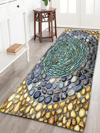 Pebbles Printed Water Absorption Flannel RugHOME<br><br>Size: W24 INCH * L71 INCH; Color: COLORMIX; Products Type: Bath rugs; Materials: Flannel; Pattern: Print; Style: Novelty; Shape: Rectangle; Package Contents: 1 x Rug;