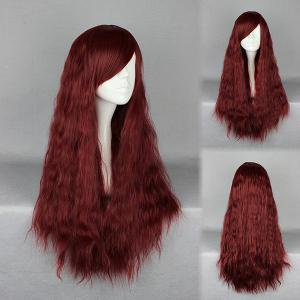 Long Inclined Bang Fluffy Yaki Straight Synthetic Wig
