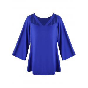 Plus Size Cut Out Flare Sleeve Top