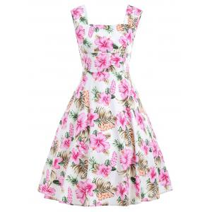 Floral Retro Swing Midi Dress