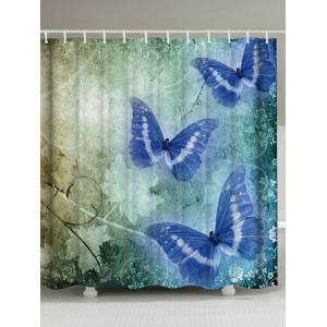 Vintage Butterfly Shower Curtain Bathroom Decoration
