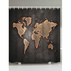 Eco-Friendly Seven Continents Map Shower Curtain