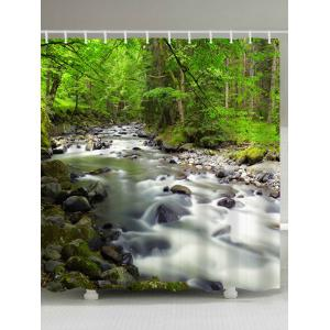 Forest Creek Waterproof Polyester Shower Curtain - Green - W71 Inch * L79 Inch