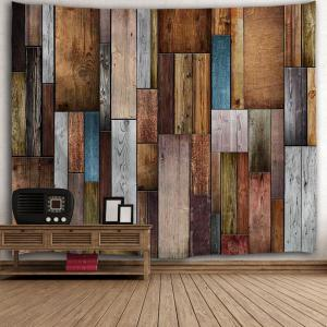 Vintage Wood Texture Throw Wall Art Tapestry - COLORMIX W71 INCH * L91 INCH