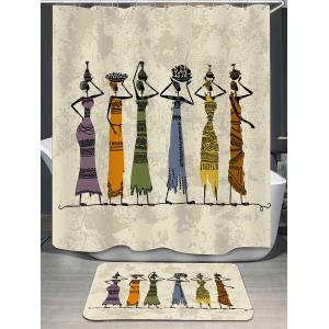 Africa Beauties Printed Shower Curtain and Rug