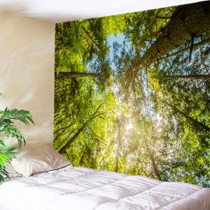 Forest Sky Sunshine Print Tapestry Wall Hanging Art Decoration