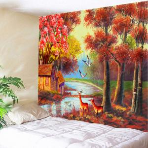 Autumn Scenic Painting Wall Art Tapestry