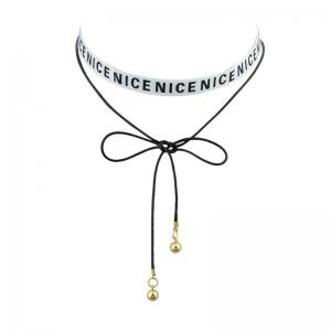 Bows Nice Long Choker Necklace
