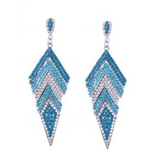 Rhinestone Sparkly Geometric Dangle Earrings