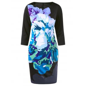 Colorful Ink Printing Sheath Dress