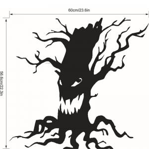 Removable Halloween Ghost Tree Wall Sticker - BLACK