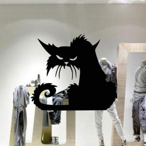 Removable Cat Shape Wall Sticker