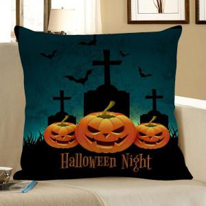 Pumpkin Tombstone Pattern Halloween Pillowcase