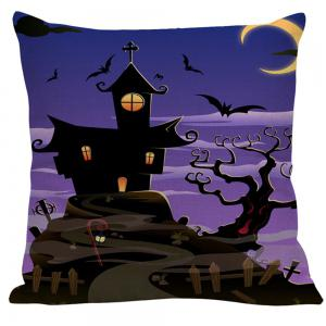 Bat Printed Halloween Pillow Case