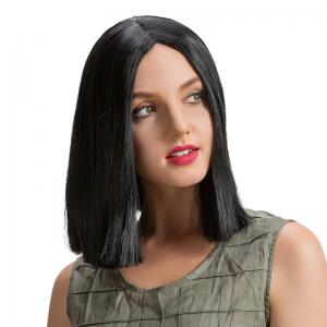 Middle Part Straight Short Bob Synthetic Wig