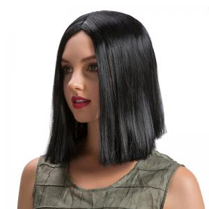 Middle Part Straight Short Bob Synthetic Wig -