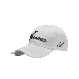 Letters Embroidery Long Tail Embellished Baseball Cap - White - L