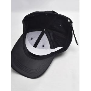 Letters Embroidery Long Tail Embellished Baseball Cap - FULL BLACK
