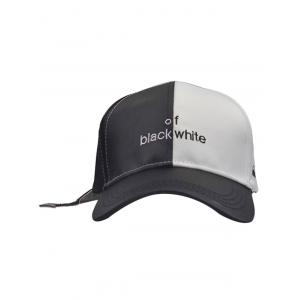 Letters Embroidered Two Tone Baseball Cap - BLACK WHITE