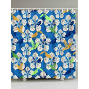 Pastoral Printed Polyester Shower Curtain For Bathroom