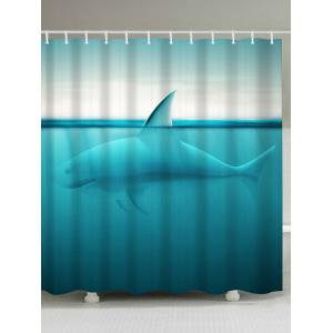 Ocean Shark Waterproof Fabric Shower Curtain - Lake Blue - W71 Inch * L79 Inch