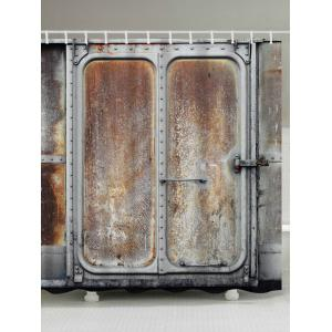 Rusty Iron Door Print Waterproof Shower Curtain - Taupe - W71 Inch * L79 Inch
