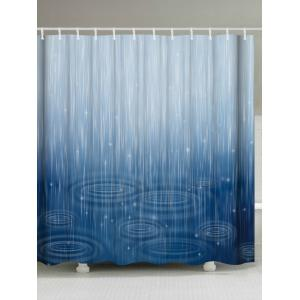 Unique Water Ripple Shower Curtain For Bathroom